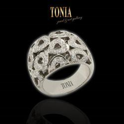 Diamond And White Gold Ring By Tonia Jewellery